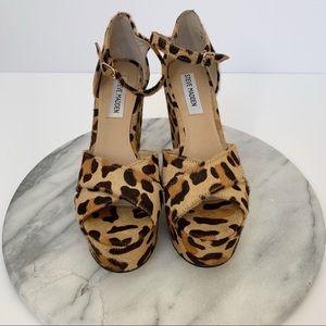 "Steve Madden ""Winery"" leopard wedge sandals"
